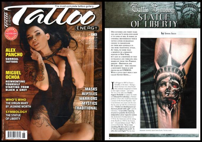 kipod tattoo magazine mention